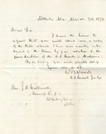 Correspondence | Letter from W.B. Woods to John Henry Caldwell, March 1874