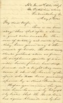 Correspondence   Civil War letter from John Henry Caldwell to Mary Caldwell, May 1863