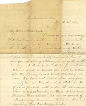 Correspondence   Letter from Mary Caldwell to John Henry Caldwell, March 1874