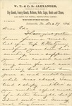 Correspondence   Letter from Tom Isbell to Ed Caldwell, December 1874