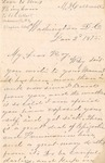 Correspondence   Letter from Mary Caldwell at Washington, DC to Ed Caldwell, January 1875