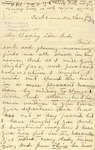 Correspondence   Letter from Kate to Ed Caldwell, January 1875