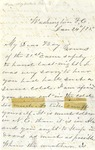 Correspondence | Letter from Mary Caldwell to Ed Caldwell, January 1875
