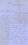 Correspondence | Letter from unknown author to Ed Caldwell, February 1875