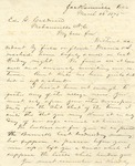 Correspondence   Letter from John Henry Caldwell to Ed Caldwell, March 1875