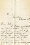 Correspondence | Letter from Jessie to Ed Caldwell, March 1875