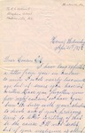 Correspondence   Letter from Fannie Eason to Ed Caldwell, April 1875
