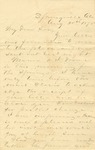 Correspondence   Letter from John Henry Caldwell to Ed Caldwell, August 1875