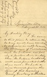 Correspondence | Letter from Mary Caldwell to Ed Caldwell, August 1875
