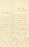 Correspondence   Letter from Naomi Bale to Mary Caldwell, November 1875