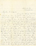 Correspondence   Letter from Mrs. E.W. Allday to Mary Caldwell, February 1876