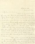 Correspondence | Letter from Mrs. E.W. Allday to Mary Caldwell, March 1876