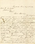 Correspondence | Letter from Antonius Clarus to Ed Caldwell, August 1876