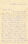 Correspondence   Letter from Sarah Brewer to Mary Caldwell, December 1876