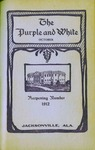 Purple and White | October 1912 (v.2, no.1) by Jacksonville State University